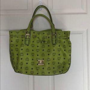 Lime Green Vintage MCM purse
